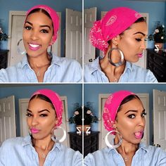 How to Tie A Head Wrap Step By Step GuideYou can find Head wraps and more on our website.How to Tie A Head Wrap Step By Step Guide Hair Wrap Scarf, Hair Scarf Styles, Curly Hair Styles, Scarf Head Wraps, Mode Turban, Turban Style, Hair Accessories For Women, Hair Goals, Hair Inspiration