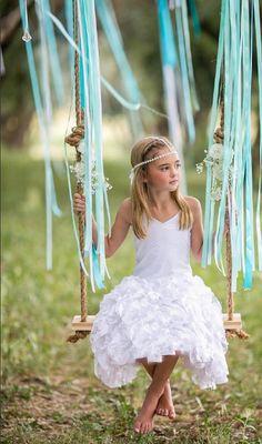 Pixie Girl White Vizcaya Dress