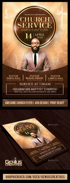Church Service Flyer Template V2 #church #Holy Week  • Download here → https://graphicriver.net/item/church-service-flyer-template-v2/20938829?ref=pxcr