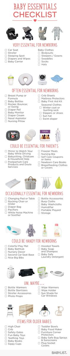 """We ranked baby essentials from """"VERY essential"""" to _Um, Maybe,� to take the hassle out of deciding what to skip."""