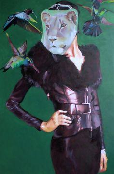 "Saatchi Online Artist: Pirotte Nathalie; Oil, 2012, Painting ""Zoo"" #art"