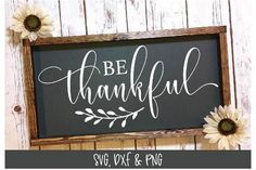 Be Thankful SVG Cut File - Thanksgiving SVG by Grace Lynn Designs available for $3.00 at DesignBundles.net