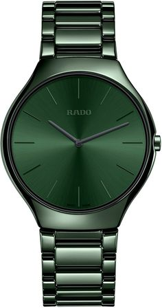 Rado Watch True Thinline Colour #add-content #basel-17 #bezel-fixed #bracelet-strap-ceramic #brand-rado #case-depth-5mm #case-material-ceramic #case-width-39mm #delivery-timescale-call-us #dial-colour-green #gender-mens #luxury #movement-quartz-battery #new-product-yes #official-stockist-for-rado-watches #packaging-rado-watch-packaging #price-on-application #style-dress #subcat-true #supplier-model-no-r27264312 #warranty-rado-official-2-year-guarantee #water-resistant-30m