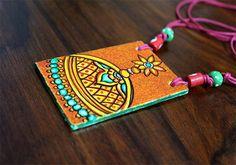 Handmade Kerala Mural Pendant Design 3 – Desically Ethnic
