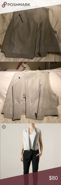 Helmut Lang Nimbus biker vest Size small. New with tag attached Helmut Lang Tops