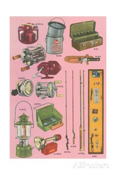 Camping Gear Giclee Print at AllPosters.com
