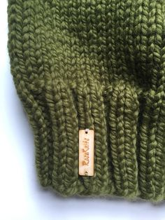 A closer look Knit Slouchy Beanie ~ Cilantro