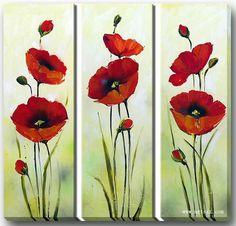 pinturas de amapolas rojas - Buscar con Google                                                                                                                                                      Más
