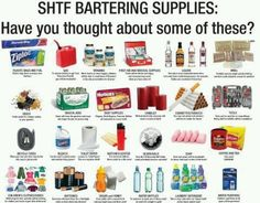 Barter Items for after the SHTF