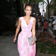 Jessica Alba in Antonio Berardi dress