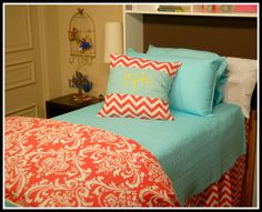 Dorm room bedding sets dorm bedding collections with amazing Dorm Room Bedding, Baby Crib Bedding Sets, College Dorm Bedding, Turquoise Bedding, Baby Room Themes, Baby Theme, Baby Rooms, Nautical Bedding Sets, Houses