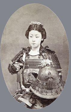 A female Samurai.
