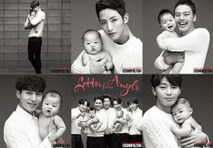 Ads to promote adoption: Babies with Pinocchio's Kim Young Kwan, Lee Soo Hyuk, Yeo Jin Goo (with super smiley baby), Lee Dong Wook, Winner and Park Seo Joon.