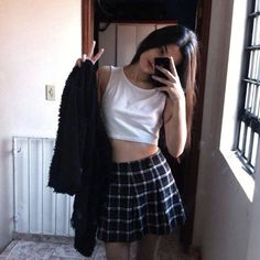 Image about girl in -fashion by Celia on We Heart It Grunge Outfits, Grunge Fashion, Casual Outfits, Summer Outfits, Cute Outfits, Fashion Outfits, Alissa Salls, Luanna, Outfit Goals
