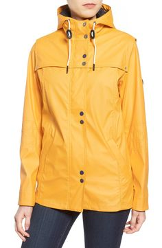 Barbour 'Hachamore' Hooded Rubberized Rain Jacket