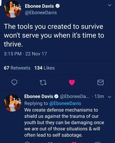 The tools you created to survive won't serve you when it's time to thrive.