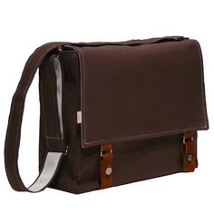 Another option for when I am employed.    15 Laptop Messenger Bag  Brown with Leather Accents Bag by R2SD, $72.00