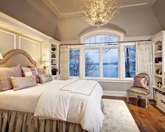 Traditional Bedroom Design, Pictures, Remodel, Decor and Ideas - page 6 Suddenly obsessed with chandeliers in the bedroom