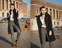 Get this look: http://lb.nu/look/5954535  More looks by Mirella Szymoniak: http://lb.nu/mirellaszymoniak  Items in this look:  Choies Coat, Zara Trousers, Vagabond Shoes