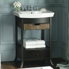 Pedestal Sink Or Vanity In Small Bathroom How To Get Two Sinks Bathroom With Pedestal Sink Ideas. Pedestal Sinks In Traditional Bathroom. Marvelous Small Pedestal Sink In Perfect Home Interior Design Ideas With Small Pedestal Sink. Pedestal Sink Bathroom, Single Bathroom Vanity, Downstairs Bathroom, Bathroom Vanities, Open Bathroom, White Bathroom, Pedastal Sink, Small Pedestal Sink, Pedestal Basin