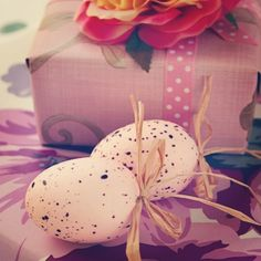 Pastel Pink Easter Eggs  #ShareWed