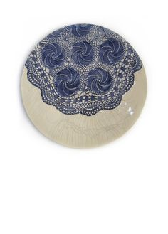 wall lace ceramic plate www.etsy.com/de/shop/ceralonata