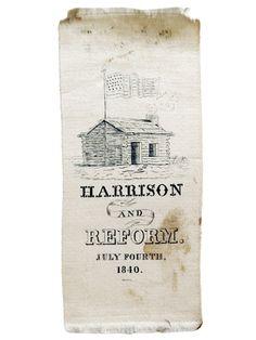 william henry harrison campaign ribbon