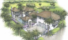 RCL Developement - Plan A - Windsor Vero Beach, Florida Windsor Florida, Golf Estate, Vero Beach, How To Plan, Painting, Art, Art Background, Painting Art, Paintings