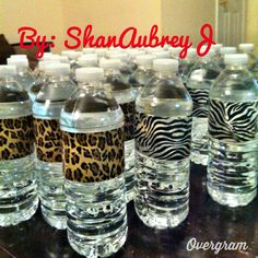 Safari themed + duck tape + bottles of water = Quick & easy DIY project! Duck Tape, Easy Diy Projects, Tao, Safari, Bottles, Water Bottle, Diy Crafts, Duct Tape, Homemade