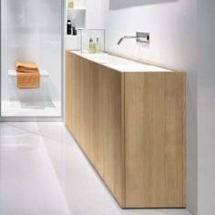 Modulo30 Thermo-Treated Wood Vanity with Wall Drain