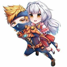 Kagura and Hayabusa Mobiles, Gaming Wallpapers, Cute Wallpapers, Anime Couples, Cute Couples, Miya Mobile Legends, Legend Drawing, Mobile Legend Wallpaper, The Legend Of Heroes