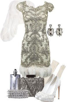 """""""That Feather Dress"""" by queenranya ❤ liked on Polyvore"""