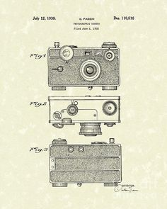 Camera 1938 Patent Art #patentart