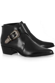 FAVORITE Saint Laurent Duckies Leather Ankle Boots l NET-A-PORTER