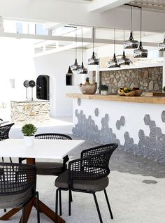 Boutique Hotel Lyo Mykonos designed by studio a. Mykonos, Boutique, Dining Table, Restaurant, Studio, Furniture, Design, Home Decor, Dinning Table