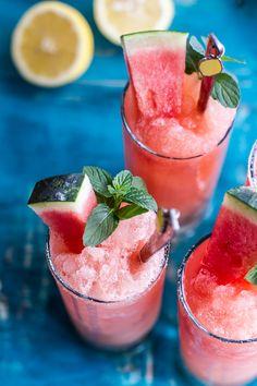 Pink Watermelon Lemonade Slushies   halfbakedharvest.com