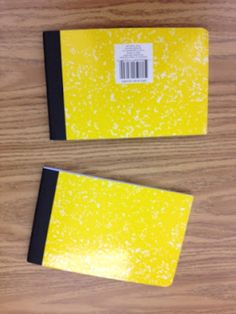 3rd Grade Thoughts: Cut a comp book in half! Genius!!