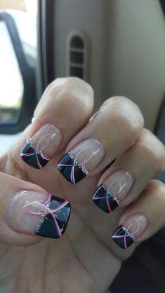 My breast cancer nails, lovee 8 1/2 yr survivor. . THANK YOU JESUS