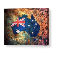 8955b943662 13 Best Australia Flag Map Products images | Australia map, Map of ...