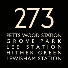 London Bus Blind Bus Route 273