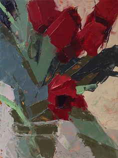 Red Tulips -- 8 x 6, Oil on Panel