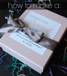 How to Make a Bridesmaid Survival Kit - mommylikewhoa.com