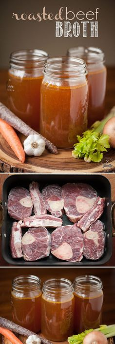 Canning Recipes, Beef Recipes, Soup Recipes, Healthy Recipes, Healthy Soups, Recipes With Beef Soup Bones, Diabetic Recipes, Homemade Beef Broth, Entrees