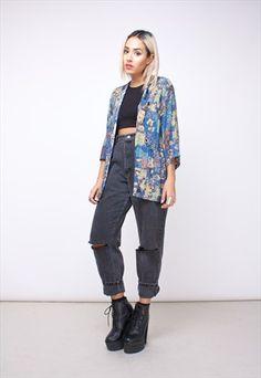 Vintage 90s Kimono Jacket in an abstract pattern 151APA27