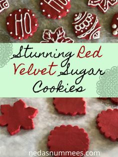 I wanted a non-spreading red velvet cookie that worked with my cutters. This is … I wanted a non-spreading red velvet cookie that worked with my cutters. This is what I came up with, the best Red Velvet cookie recipe for cut-outs. Red Velvet Cookie Recipe, Cut Out Cookie Recipe, Red Velvet Cookies, Sugar Cookies Recipe, Cupcake Cookies, Cookie Recipes, Cut Out Sugar Cookies, Cookies Kids, Chocolate Sugar Cookies