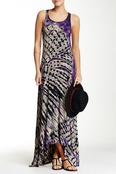 03958f0ae For long, easy summer days, Go Couture Racerback Tie Dye Maxi Dress Cruise  Fashion