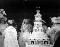 princess grace, swords, grace kelli, monaco, grace kelly, wedding cakes, royal weddings, bride, celebr