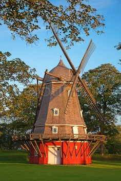windmill in Copenhagen, Denmark.I want to go here one day.