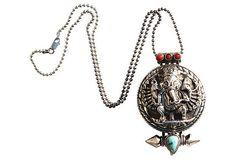 Silver Ganesha Vinaigrette or Gau Prayer Box Necklace – Yourgreatfinds