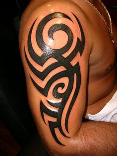 Historically there was no writing in Polynesian culture so the Polynesian's used tribal tattoos & tattoo art that was full of distinctive signs.
